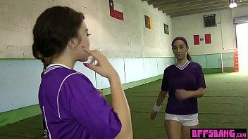 Unusual Football Training For Naughty Lesbian Teens
