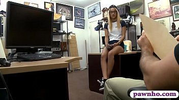 Small tits babe pawns her pussy and banged by pawn guy preview image