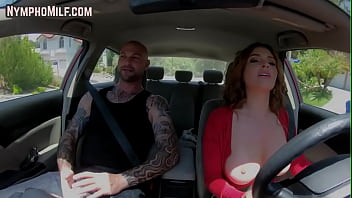 Busty milf riding and titfucking client before fuck