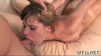 Stunning sexy girl licks big dick