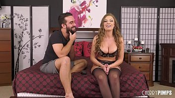 Big Tit Brunette Britney Amber Gets Fucked Out Of Her Lingerie in Live Show