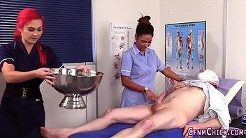 Cfnm nurses sucking cock