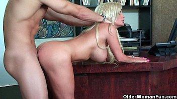 Image: Blonde milf Diamond Foxxx gets nailed hard