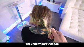 TeamSkeet - Blondie Teen (b. Sid) With Tattoos Sucks Cock For A Free Room 12 min