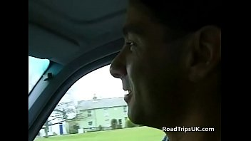Daring flashing on the roadtrip before an orgy
