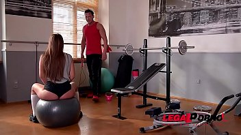 Brunette college girl Amirah Adara fucked in the ass at the gym after XXX workout GP490