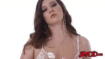 Curvaceous Maddy Oreilly oils up for big dick insertion