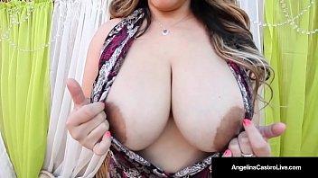 Hot Bbw Angelina Castro & 2 Bbw Friends Suck Big Black Cock!