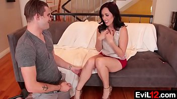 Classy Shameless MILF Fucks Nailed On The Couch By His Stepson