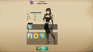 "7 Deadly Sins Grand Cross - Green ""Creation"" Fighter Diane Level Up Landscape Mode Animation 13 sec"