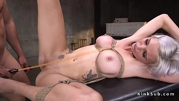 Blonde slave submits to extreme fucking