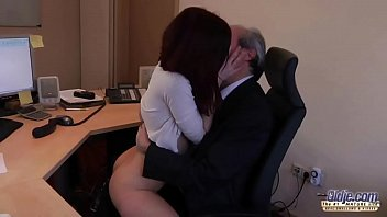 I am a young secretary seducing my boss at the office asking for sex