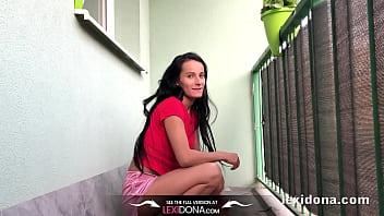 Home peeing video clips - Lexidona - balcony pee - home made