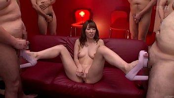 Subtitled JAV legend Yui Hatano naked masturbation party 5 min