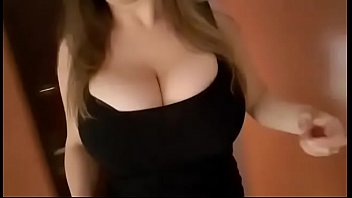 Bouncing Boobs of a Girl Going Down on Stairs