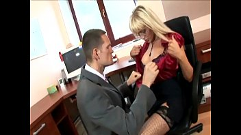 Teen lesbians in ofice - Secretary in thigh highs fucking at the office