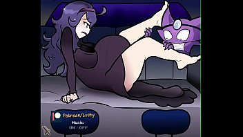 Lusty | Pregnant Hex Maniac Christmas Delivery 3 min