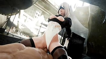 NieR: Automata 2B gets Her Wet Slutty Pussy Filled (HentaiSpark.com)