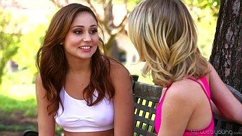 Petite Teens Ariana Marie and Kota Sky Lesbian Affair 5 min