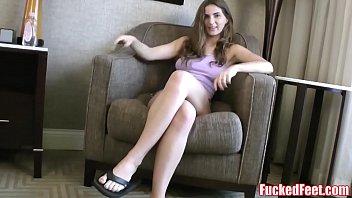 Molly Jane Oils Up Feet to Give Amazing Footjob @ FuckedFeet! 11 min