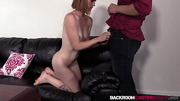 Tight amateur Kate fed cum after anal riding interview preview image