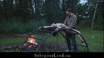Skinny sex slave exploited outdoor by her Master Vorschaubild