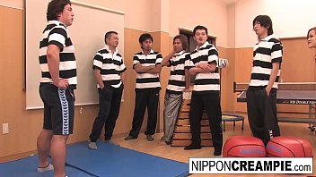 Schoolgirl Gets Her Pussy Pounded By Jocks In The Gym