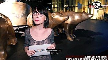 German student teen public pick up EroCom Date in Berlin Casting