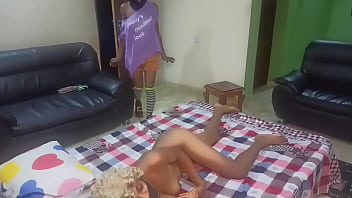 My Flatmate Best Friend Seduce My Girl Into A Lesbian Fun While I and My Guy Joined The Fun (Preveiw) 9 min
