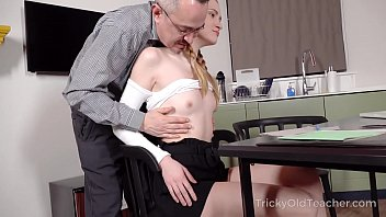 Tricky Old Teacher - Cutie Uses Her Body To Pass The Exam Successfully