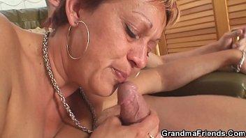 Interracial Threesome Sex With Hot Grandma 6 Min