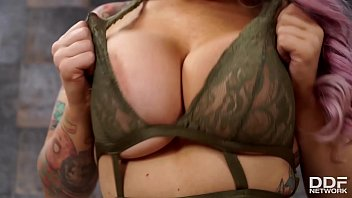 Busty bombshell LiLy Madison sucks her heavenly tits & finger bangs pussy thumbnail