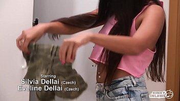 KINKY INLAWS - #Silvia Dellai #Eveline Dellai -Twin Czech Sisters Forbidden Sex With Stepfather's Big Cock 10 min