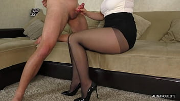 Cum In Panties StepSister - Teen Handjob And ThighJob In Pantyhose