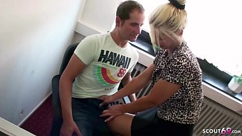 YOUNG BOY SEDUCE TO FUCK BY MILF BOSS ON WORK IN OFFICE