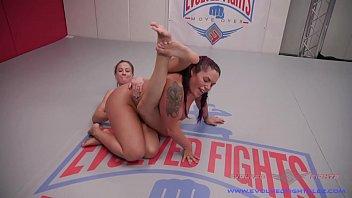 Rough lesbian strapon sex Cheyenne jewel lesbian wrestling and strapon fucking jasmeen lefluer