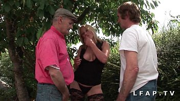 A beautiful French whore with big tits has her ass ravaged by 3 guys 45 min