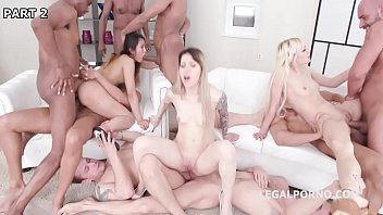 Reality gang porno extrem Three bitches anally destroyed by a gang of horny studs
