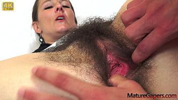 Hairy cougar Valentina Ross fucks young boy with big dick - MatureGapers.com