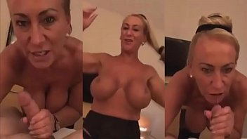 mature mother with big tits sucking