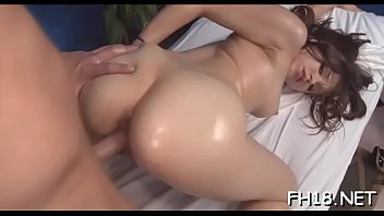 Babe with a perfect ass fucked by rubber