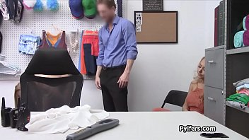 Teen milf shares guards cock in the office