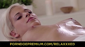 RELAXXXED - Oiled blonde Ria Sun has intense sex with masseur Image