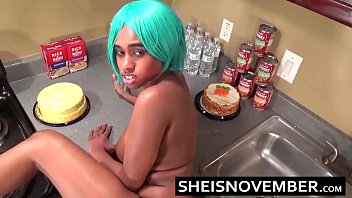 My StepSister Takes Hot Cumshot Facial To Face From Big Cock Step Brother With Giant Ebony Titties Exposed and Rough Sex On Sheisnovember