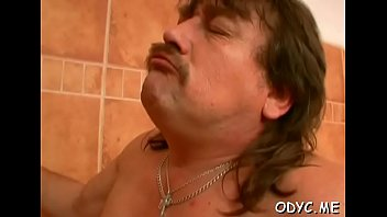 Porn tube old man Sexy old and young sex with cute hottie jerking off old man