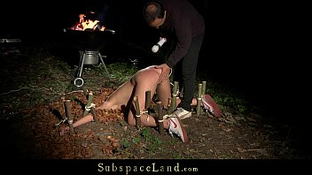 Bdsm perversion at midnight in the forest