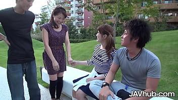 JAVHUB Two beautiful Japanese girls swap partners