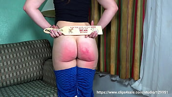 Taylor Spanked Hard By Mom With A Wooden Paddle!