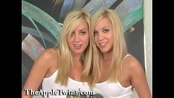 美丽的金发女同性恋双胞胎姐妹。