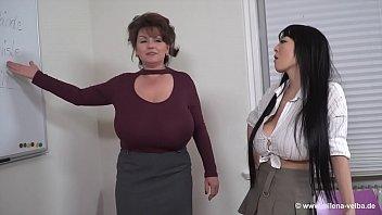 Milena Velba (feat Hitomi Tanaka & Okita Anri) - Lesbian BigTits thumbnail